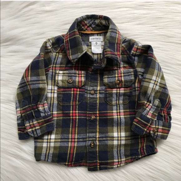 805ba8b9b Carter's Shirts & Tops | Carters Baby Boy Plaid Button Down Flannel ...